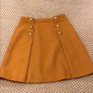 J Crew Gold Wool Skirt 2